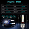Factory Price LED Front Headlight R3 9005 LED Auto Car Lighting