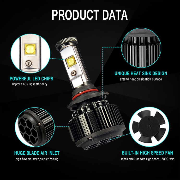 Excellent Quality V16 9012 30W LED Lamp Automobile Lighting